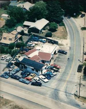 1985 aerial view of Joe's Garage Inc Auto Repair Southampton NY