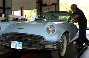 Joe's Garage Inc performs custom car repairs Southampton NY - 1957 Ford Thunderbird