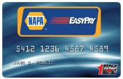NAPA Easypay card payment accepted